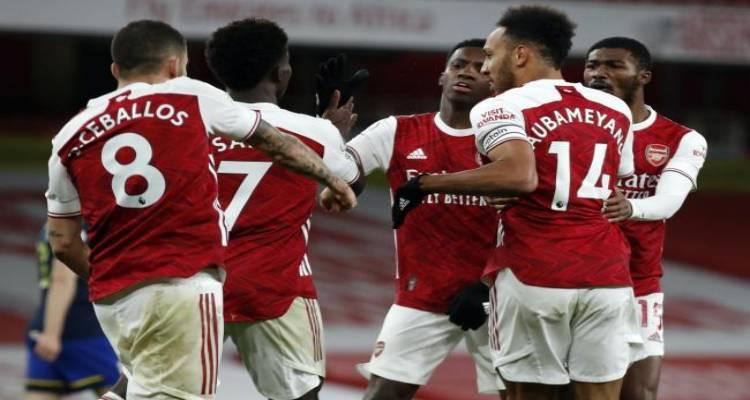 Finally: Arsenal Striker Aubameyang Gets A Goal