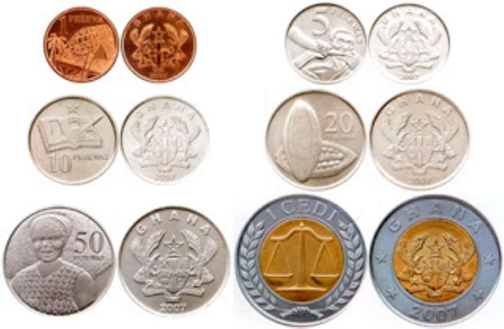 Cedi coins