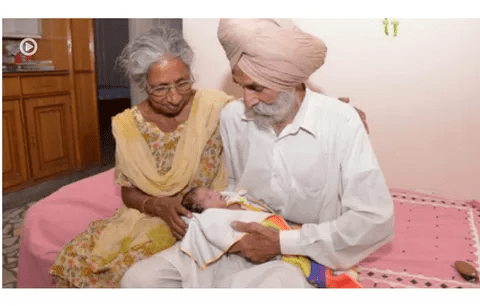 Miracle: India Old Lady Waits Seventy Years To Get First Child