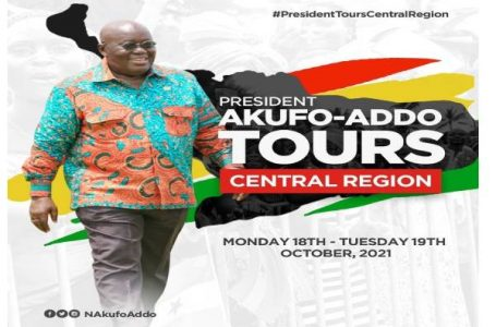 PRESIDENT IN CENTRAL REGION FOR TWO DAYS TOUR.